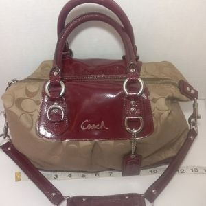 COACH ASHLEY SATEEN SHOULDER BAG
